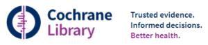 Logo van de Cochrane Library. Het is een grafiek die een samenvatting geeft van verschillende artikelen. Je kunt in een keer de uitkomst zien.